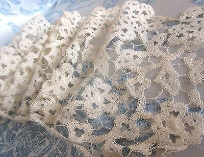"Antique Hand Made Lace Trim 5"" Wide x 35"" Flemish? Bobbin"