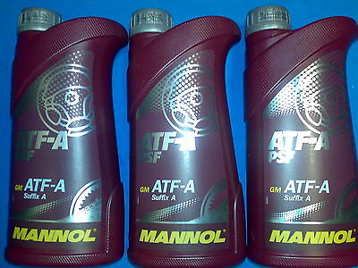 3L MANNOL ATF-A Suffix Power Steering Fluid PSF  DEXRON ATF Type B ATF Type D