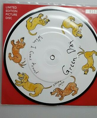 """Green day When I come around 7"""" vinyl picture disc numbered"""