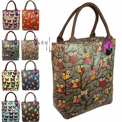 Lunch Bag Ladies Girls Insulated Cool Bag Sandwich Picnic Cooler Fashion Print