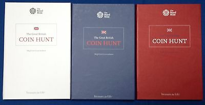 Set of New 2016 Royal Mint UK Coin Collection Albums / Folders £2 £1 Pound 50p