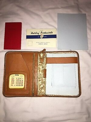 Vintage Real Leather Tan Writing Case Made In England
