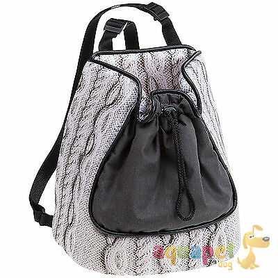 Small Dog and Cat Carrying Rucksack - Cable Design - Two Sizes