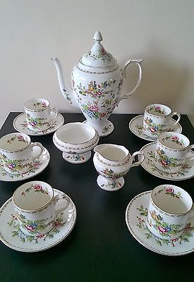 Superb vintage Crown Staffordshire PAGODA coffee set unused