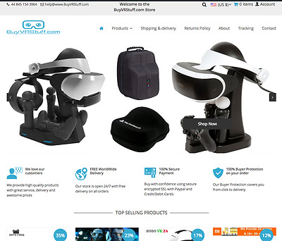 Virtual Reality VR Accessories Business For Sale | BuyVRStuff.com | Dropshipping