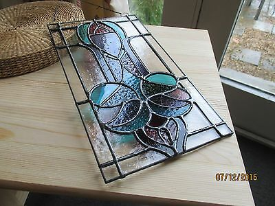 Hand made stained glass panel