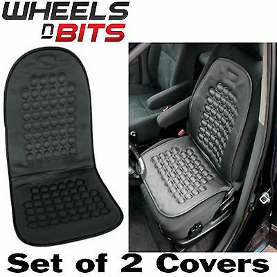 2x UNIVERSAL Car Van Taxi Truck Seat Cover Black Massage Health Cushion
