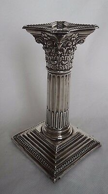 Victorian 1895 Corinthian London Solid / Sterling Silver Candlestick