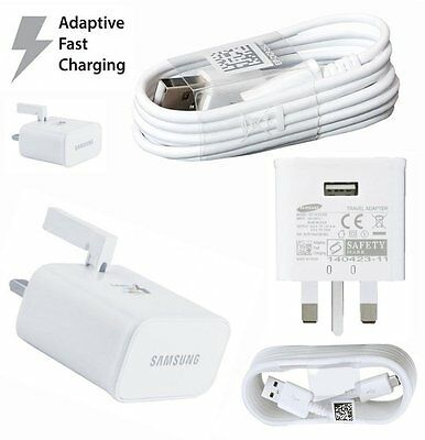 100%Genuine Samsung Galaxy S6/S7/edge Note 4/3 Wall Charger & Cable
