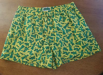 RARE VINTAGE GUMBY toy Novelty Boxer Shorts Yellow Green SIZE XL 40-42