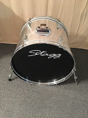 "22"" Bass Drum In Mirror Chrome For Drum Kit Trigger For Roland TD Series Kits"