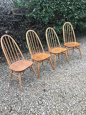 Set Of 4 Quaker Ercol Chairs / Dining / Kitchen