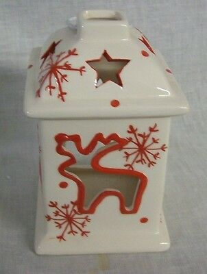 NEW CHRISTMAS Reindeer Votive Lantern Candle Holder TII Collections