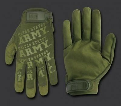 ARMY STRONG Lightweight Mechanic's US Finger Handschuhe Gloves OD Green oliv  L