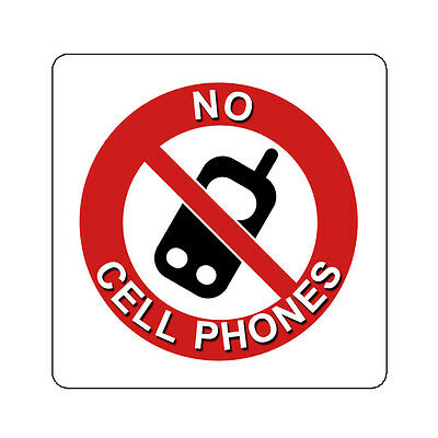 No Cell Phones Mobile Device Allowed Decal Sticker Sign 4 Inch And Up Cellphone