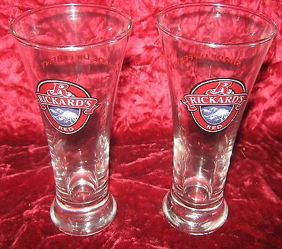 1 - Lot of 2 - Rickard's Red (1/2 pint) Beer glasses