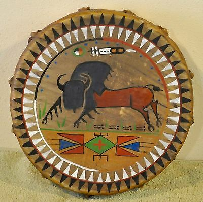 Sacred Buffalo /Native American Drum Painted by Lakota Artist Sonja Holy Eagle