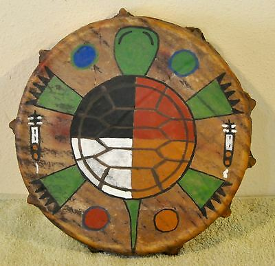 Sacred Turtle /Native American Drum Painted by Lakota Artist Sonja Holy Eagle