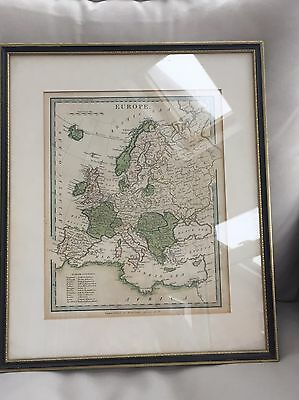 Map Of Europe Published By Hamilton Adams And Co c.1828