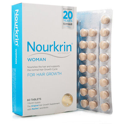 Nourkrin WOMAN Hair Growth Supplement 60 Tablets (1 month supply)