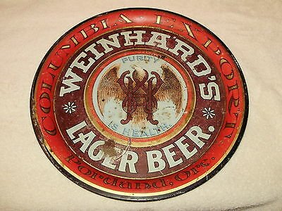 WEINHARD'S LAGER BEER - Portland, Or. - Early Beer Tray - 1900