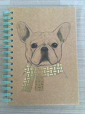 Chasing Baxter French Bulldog Frenchie Dog Puppy Spiral Notepad Diary Notebook