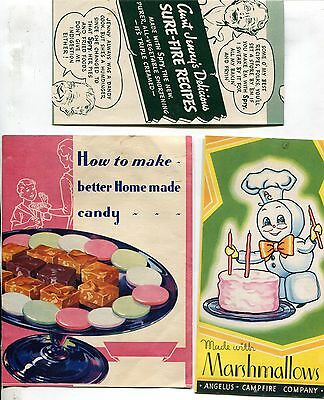 Cooking & Baking, Lot of 3 Booklets & Pamphlets