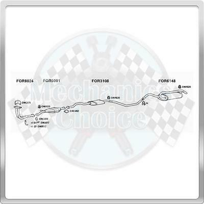 Full Exhaust System for Ford Escort 1.6 09//90-07//92