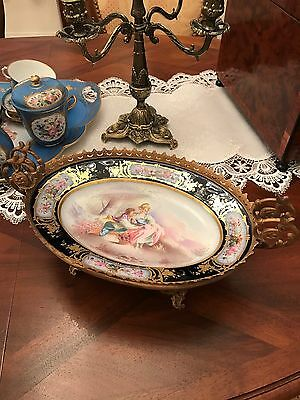 louis philippe sevres porcelain Centerpiece Plate grande coupe ancienne French