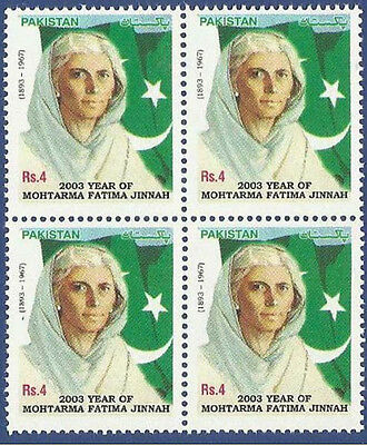 Pakistan Mnh 2003 Year Of Fatima Jinnah Dental Doctor Flags Famous Person