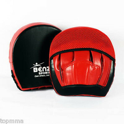 BENZA Razor Boxing Punch Mitts, Focus Pads Boxing Mitts Light Weight Black/Red