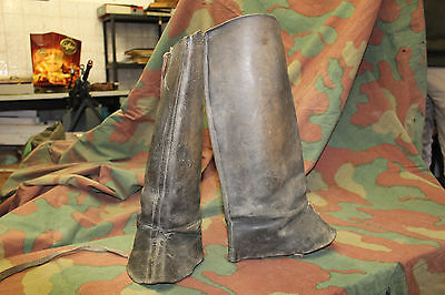 Italian leathers Gaiters cavalry - WWI - original and very nice conditions -