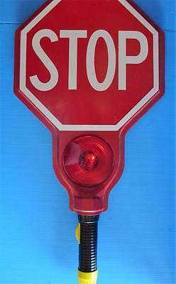Vintage STOP SIGN Hand Held Crossing Guard Traffic Safety Construction Police