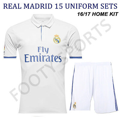 Real Madrid Home kit 16/17 Soccer Uniform 15 Sets Free Numbers FOOTYSPORTS