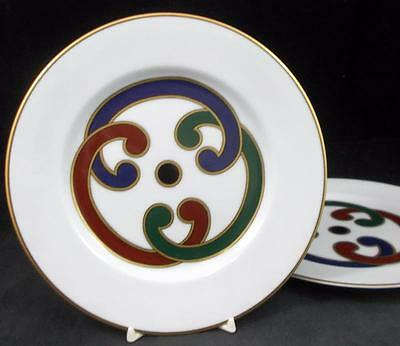 Fitz Floyd CHARADE MULTICOLOR 2 Salad Plates GREAT CONDITION