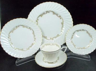 Syracuse BAROQUE GRAY 5 Piece Place Setting GREAT CONDITION