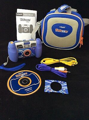 VTech Kidizoom+ Camera (Blue) Plus Accessories and Carry Case