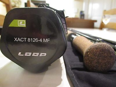 Used Loop Xact 12 Foot 6 Inch Salmon Fly Rod 4 Piece with Original Bag & Tube