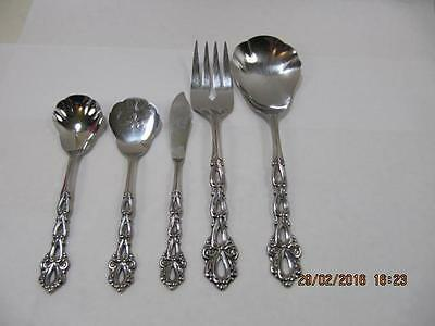 Oneida chandelier serving piece you choose stainless flatware 5 piece oneida community stainless serving pieces chandelier pattern aloadofball Choice Image
