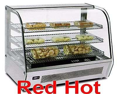 "Omcan 39536 White 34"" Hot Food Warmer Glass Display Case DW-CN-012"