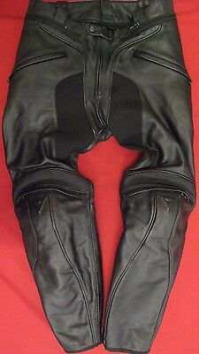 DAINESE LEATHER MOTORCYCLE JEANS TROUSERS UK 32 waist EU 50