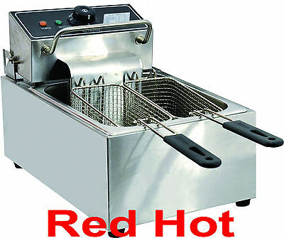 New Fma Omcan Commercial Counter Top Electric 6 Lb Deep Fryer CE-CN-0006  34867