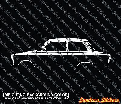 2x silhouette stickers aufkleber - for Trabant 601 oldtimer limousine
