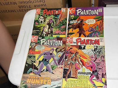 The Phantom lot of 4 books #38 #40 #42 and #43 Charlton Comics 1970