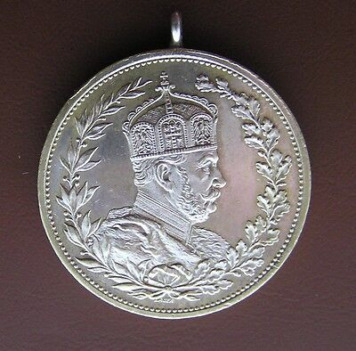 Germany Silver Medal 1897 100 Anniversary Birth Kaiser Wilhelm By Lauer.
