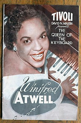 OLD PROGRAMME Tivoli Theatre Melb  c.1955 Winifred Atwell Queen of Keyboard