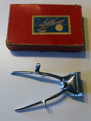 "Vintage Antique Handheld Hair Clippers by Alcoso No00 ""Germany"" In Original Box"