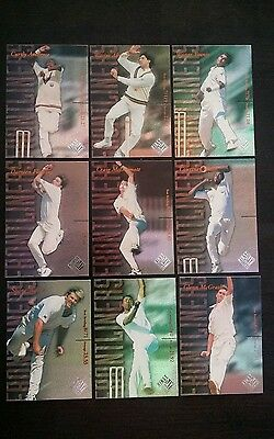 Futera 1996 Decider Cricket Cards 1st Day Issue Frontliners Full Set (9)