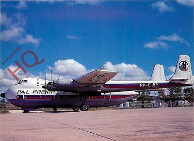 Postcard: PHILIPPINE AIRLINES PAL FREIGHTER AW 650 ARGOSY RP-C1192 [JJP]