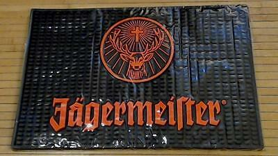 "New Jagermeister Heavy Black Rubber Counter Bar Drink Spill Service Mat 18""x12"""